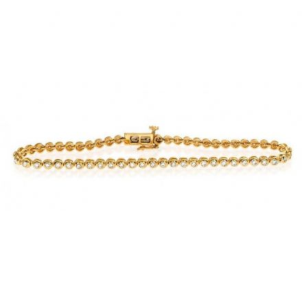 9K Gold 1.00ct Diamond Bracelet, G1160